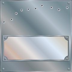 Bullet Riddled Blank Metal Plaque