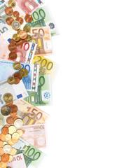 Geldscheine und Münzen - Rand