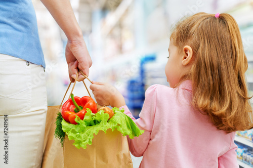 canvas print picture at the grocery store