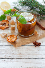 Christmas compote with dry fruits