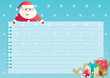 christmas background with Santa Claus, christmas decorations