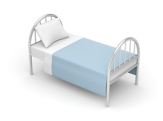 Bed. Simple bed for hotel or hospital