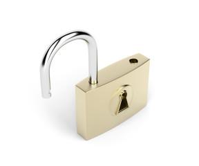 Opened padlock