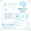 Smart Cloud Logo and Identity Template
