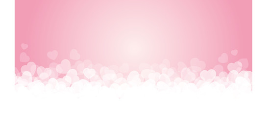 Banner rosa e cuori