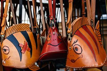 Various handbags exposed to sale