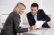 Leinwanddruck Bild - Erfolgreiche Zusammenarbeit oder Kunde und Berater