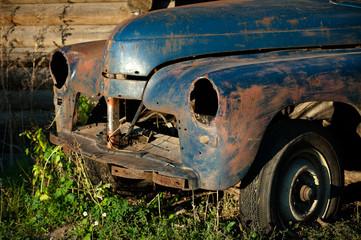 Old abandoned vintage car