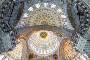 Dome of New Mosque in Fatih, Istanbul