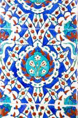 Iznik tiles in Rustem Pasa Mosque, Istanbul