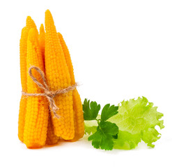 small pickled corn isolated