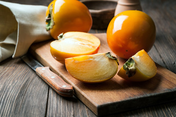 sliced ​​persimmon