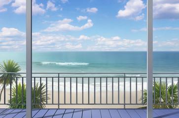 Balkon am Strand