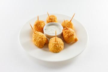 fried mozzarella with sauce