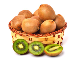 kiwi fruit on the basket