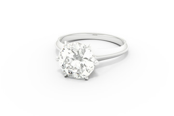 Diamond Ring / White Background