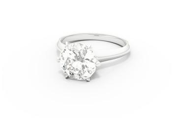 Diamond Ring / White Background