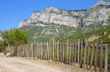 Picket Fence In Kelmend District, Albania