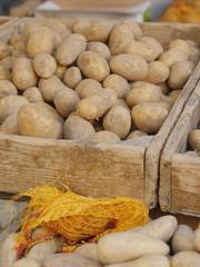 market organic potatoes