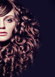 dramatic portrait of girl with curly hair-haircolors 35_2
