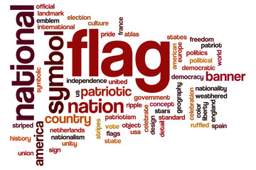 Flag word cloud