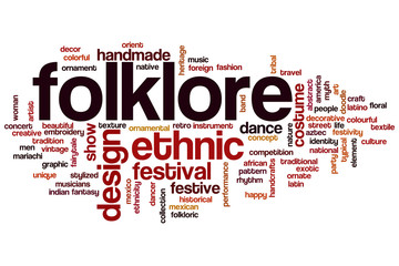 Folklore word cloud