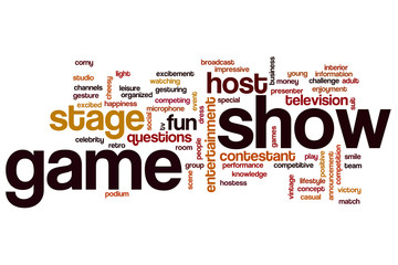 Game show word cloud