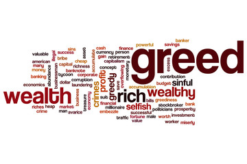 Greed word cloud