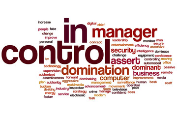 In control word cloud