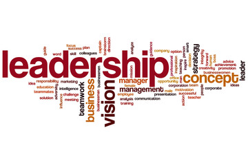 Leadership word cloud