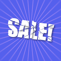 Breaking text SALE!