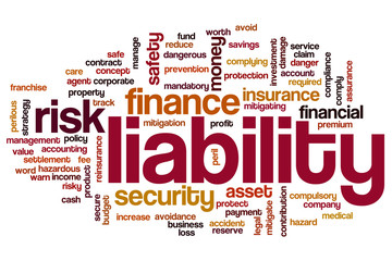 Liability word cloud