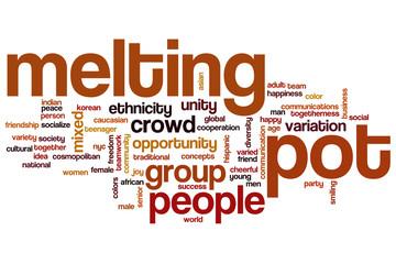 Melting pot word cloud