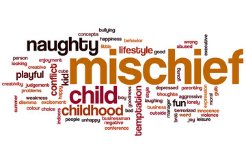 Mischief word cloud