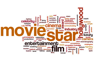 Movie star word cloud