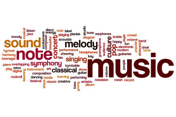 Music word cloud