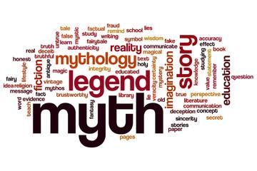 Myth word cloud