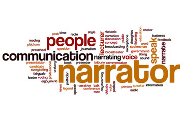 Narrator word cloud