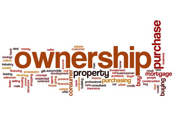 Ownership word cloud