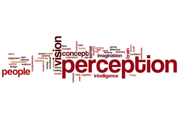 Perception word cloud