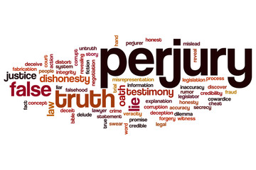 Perjury word cloud