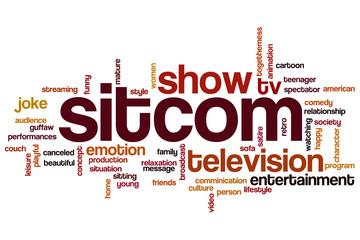 Sitcom word cloud