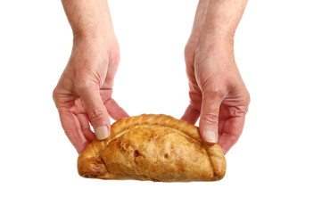 Pasty in hand