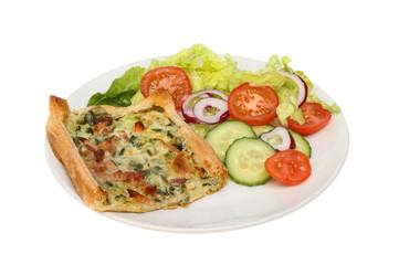 Savory tart and salad