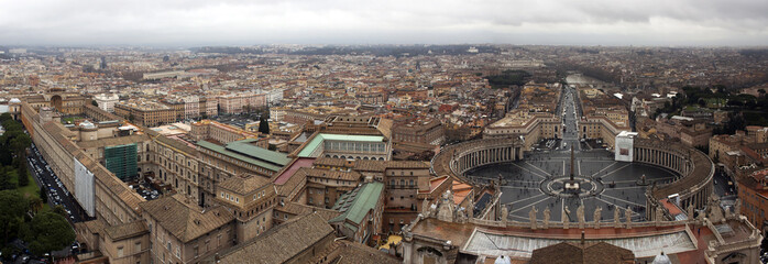 Rome, Italy. A view of the city from a survey platform