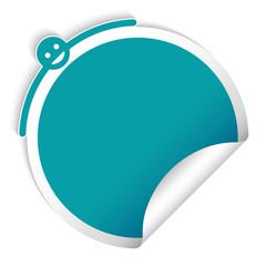 Round blue sticker, creative design