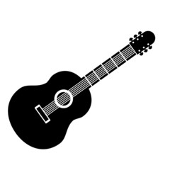 Guitar sign icon.