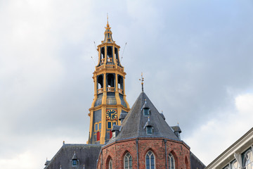 Church tower of Der Aa-kerk in Groningen, Netherlands