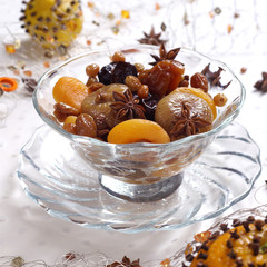 Christmas compote of dried fruits
