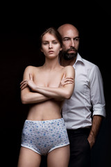 Fashion Couple, Dramatic image shot